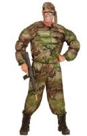 Army Soldier Muscle Costume (00514)